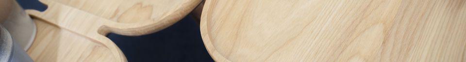Mise en avant matière Table basse en bois Kädri