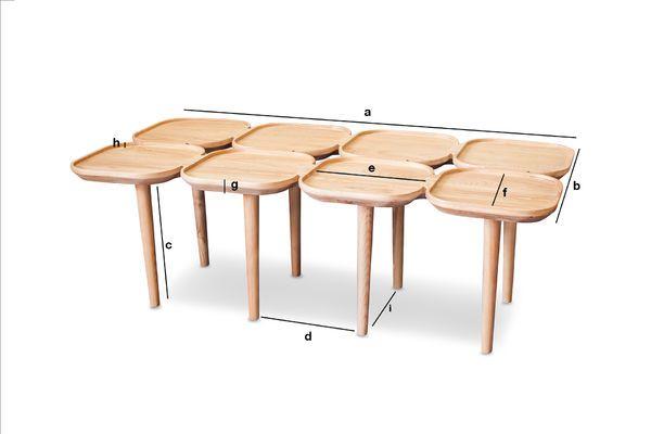 Dimensions du produit Table basse en bois Kädri