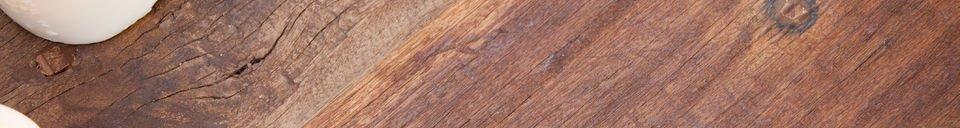 Mise en avant matière Table basse en bois New Soho