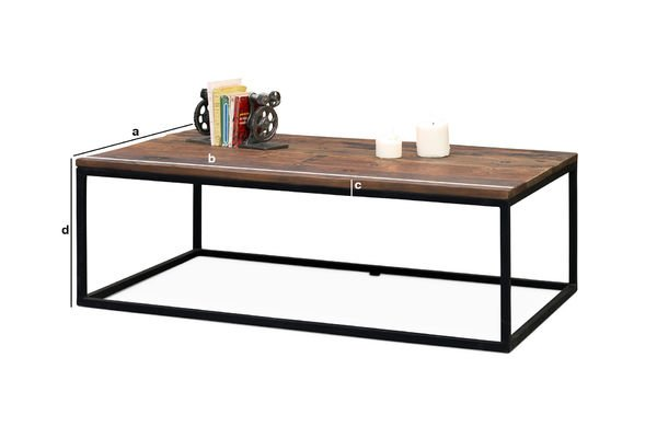Dimensions du produit Table basse en bois New Soho