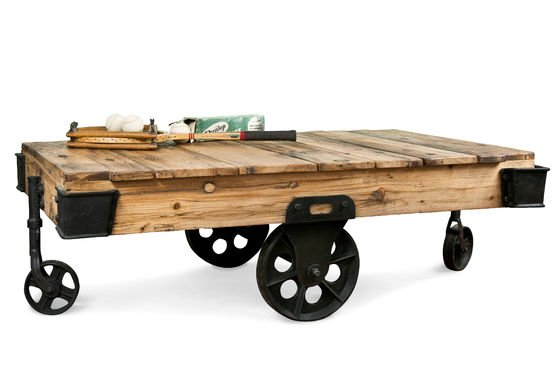 Table basse en bois Wood Wagon Détouré