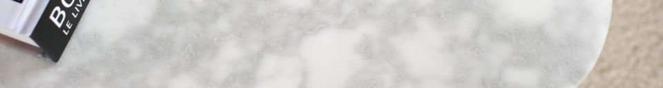 Mise en avant matière Table basse en marbre Carrera