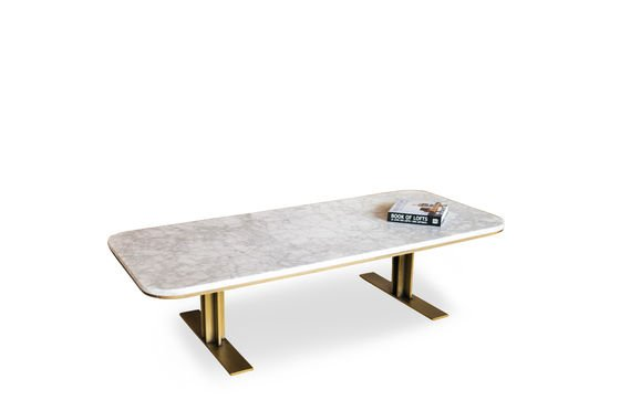 Table basse carrera l 39 alliance marbre et laiton pib for Table basse marbre