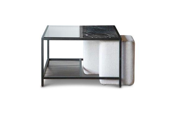 Table basse en marbre et poufs Noora Détouré