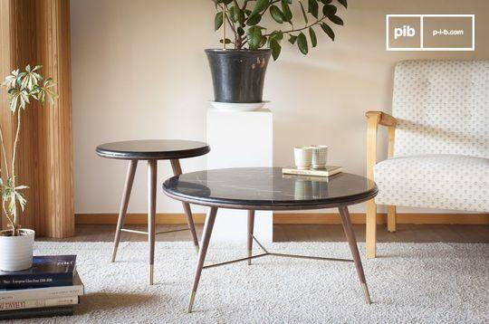 Table basse en marbre noir Sivärt