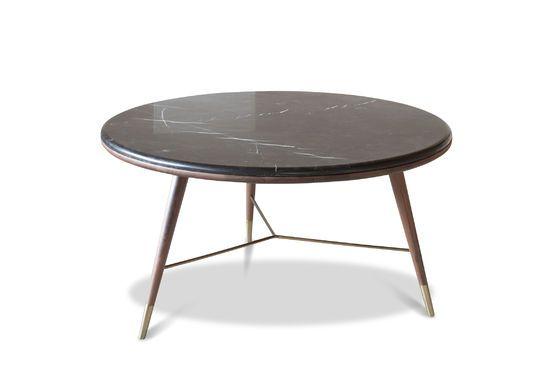 table basse en marbre noir siv rt noyer et inserts laiton pib. Black Bedroom Furniture Sets. Home Design Ideas