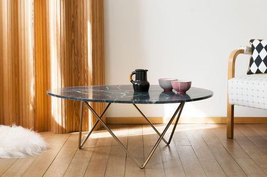 Table basse ronde en marbre trivisan