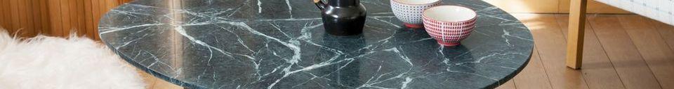 Mise en avant matière Table basse en marbre Trivisan