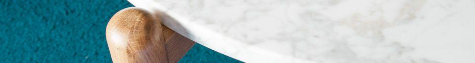 Mise en avant matière Table basse en marbre Västra