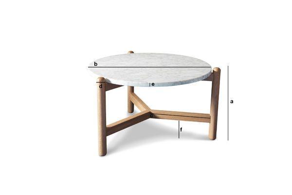 Dimensions du produit Table basse en marbre Västra