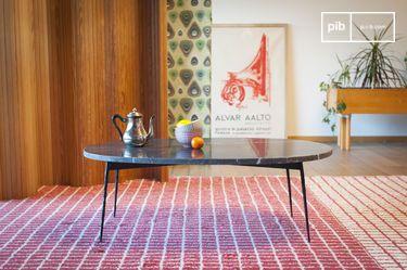 Table basse en marbre vert Maybury