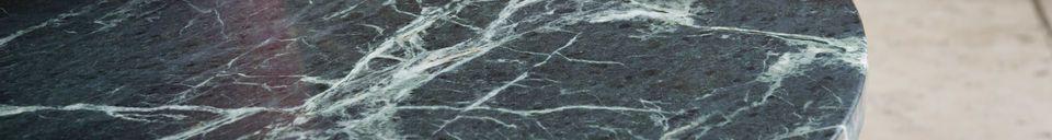 Mise en avant matière Table basse en marbre Vertü