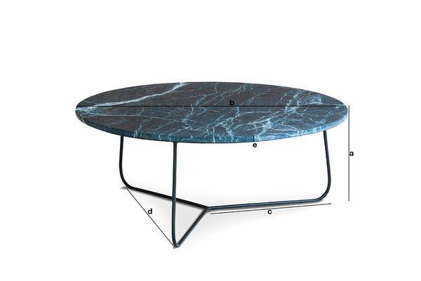 Dimensions du produit Table basse en marbre Vertü