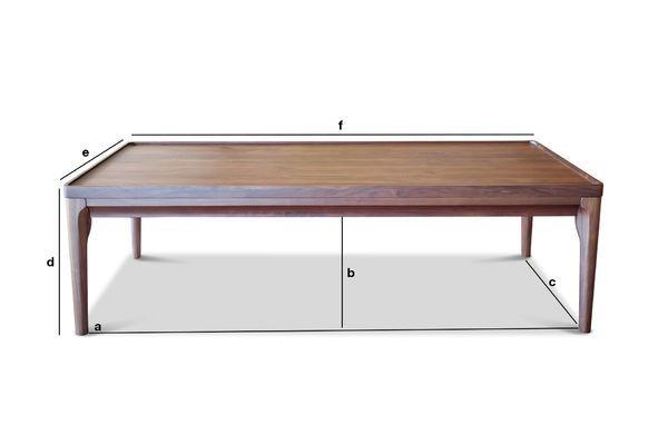 Dimensions du produit Table basse en noyer Hemët