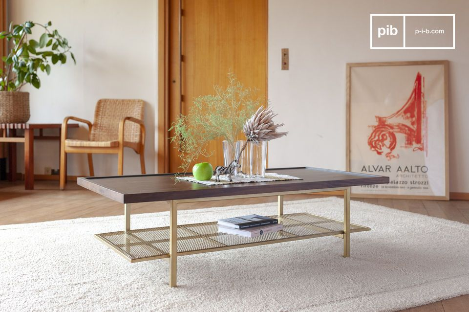 Table basse en noyer Neutra