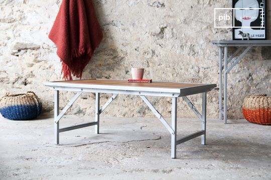 Table basse style vintage en teck bollène