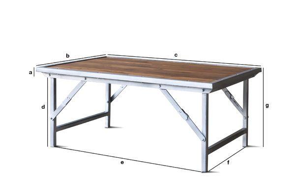 Dimensions du produit Table basse en teck Bollène