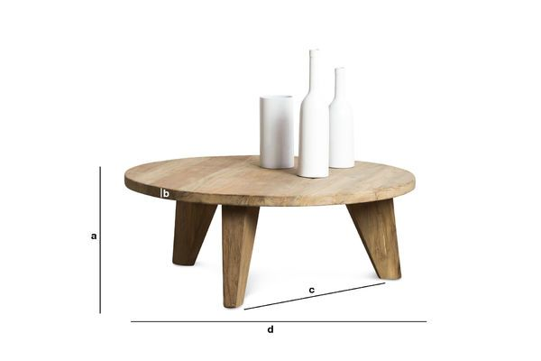 Dimensions du produit Table basse en teck Hërkal