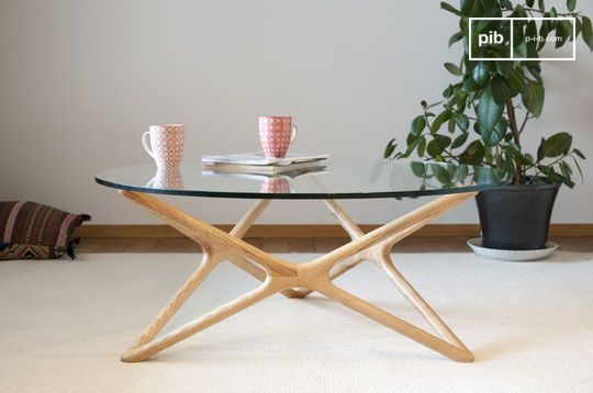 Table basse design vintage en verre estrella