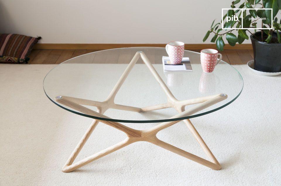 Une table basse aussi discrète que raffinée