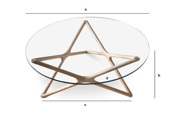 Dimensions du produit Table basse en verre Estrella