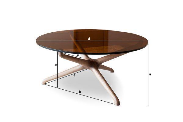 Dimensions du produit Table basse en verre Nodern