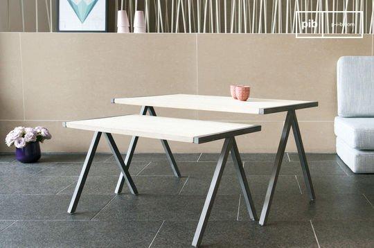 Table basse style vintage gigogne arlanda