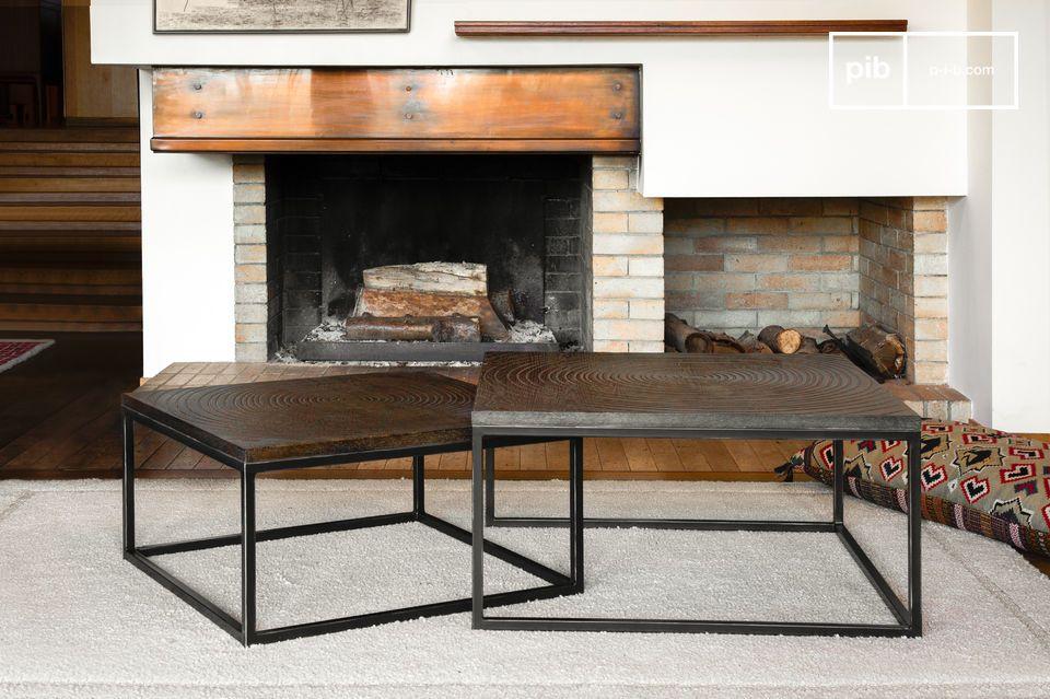 Modulable, associant style vintage, plateau graphique et bois noble