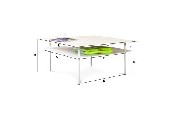 Dimensions du produit Table basse Holly Blanche