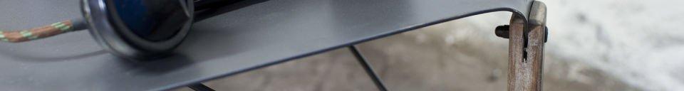 Mise en avant matière Table basse industrielle Bender