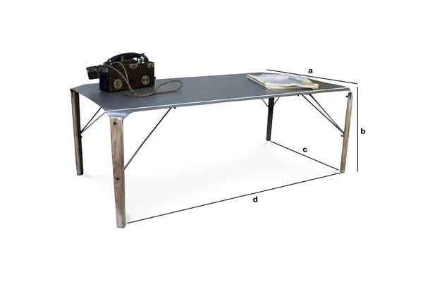 Dimensions du produit Table basse industrielle Bender
