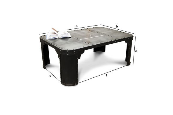 Table basse industrielle brigor un caract re tremp pib - Table basse dimension ...