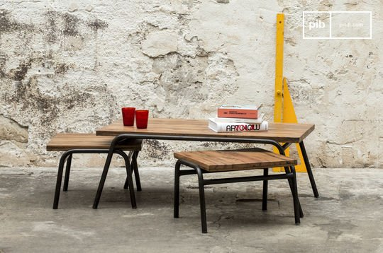 Table basse esprit vintage industrielle regular