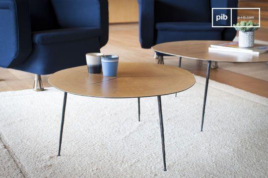 Table basse ronde jumelle xylème