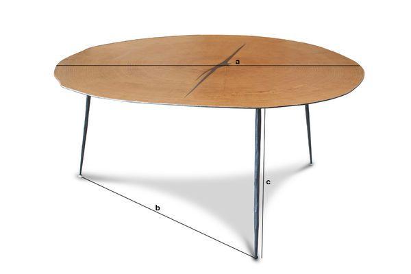 Dimensions du produit Table basse jumelle Xylème