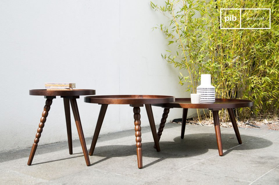 La table basse Katalina est un modèle plein de charme qui apportera une touche design néo-rétro à votre salon