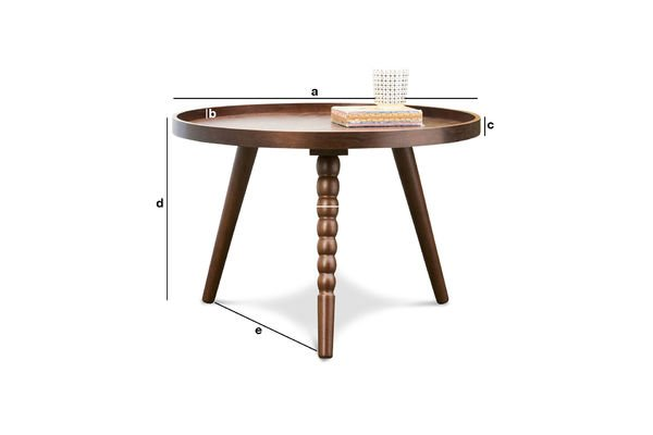 Dimensions du produit Table basse Katalina