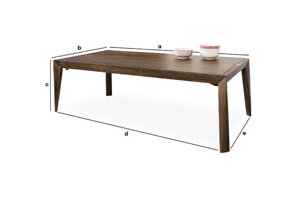 Dimensions du produit Table basse Kitell