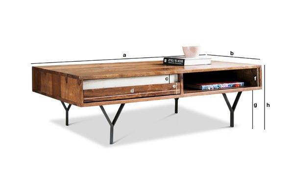 Dimensions du produit Table basse mabillon
