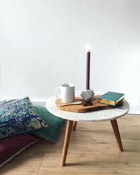 Table basse marbre scandinave