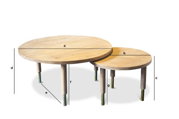 Dimensions du produit Table basse Messinki