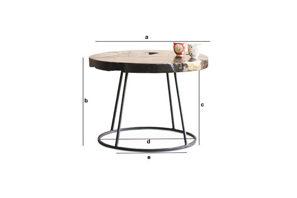 Dimensions du produit Table basse  Mina