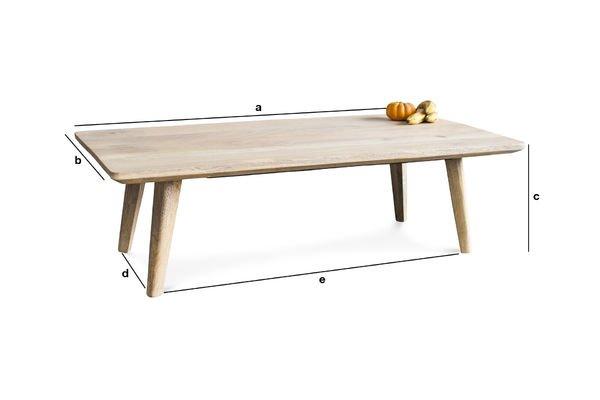 Dimensions du produit Table basse Möka