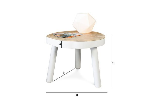 Dimensions du produit Table basse Nederland