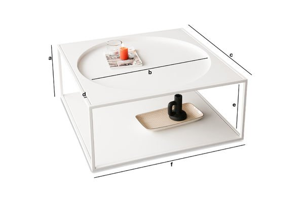 Dimensions du produit Table basse Nölbis