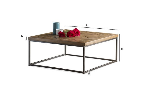Dimensions du produit Table basse Queens
