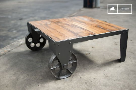 Table basse design vintage railway
