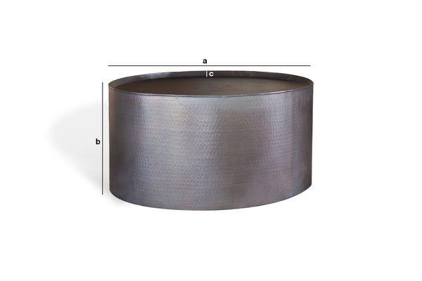 Dimensions du produit Table basse ronde Subolo