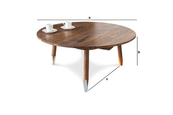 Dimensions du produit Table basse scandinave Pencil