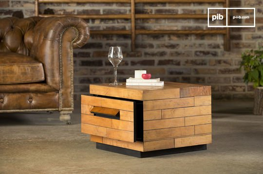 Table basse avec rangement sheffield carrée